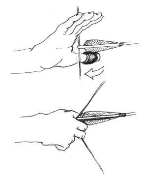 Способ натяжения лука
